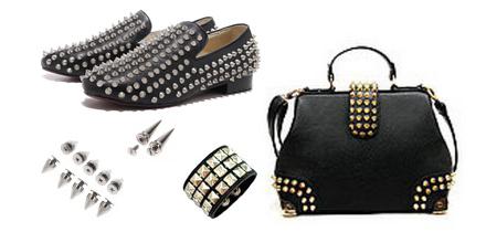 Установка шипов и заклёпок на обувь, одежду и аксессуары